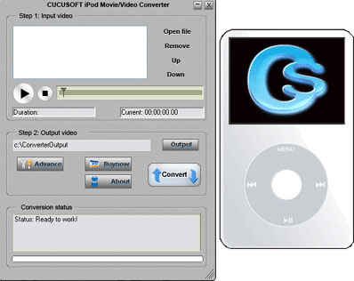 123 Cucusoft iPod Movie/Video Converter