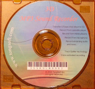 3D MP3 Sound Recorder CD Version for tomp4.com