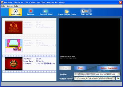 AnvSoft Flash to PSP Converter for tomp4.com