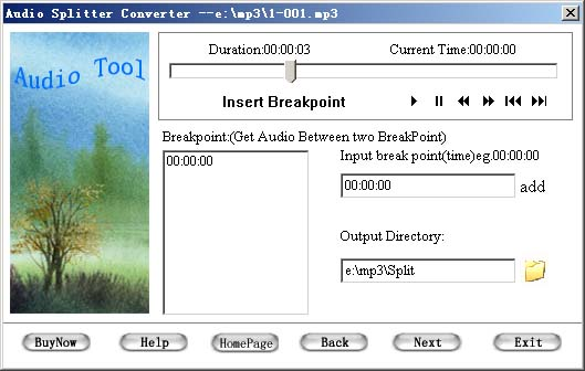 Audio Splitter Convertor Tool