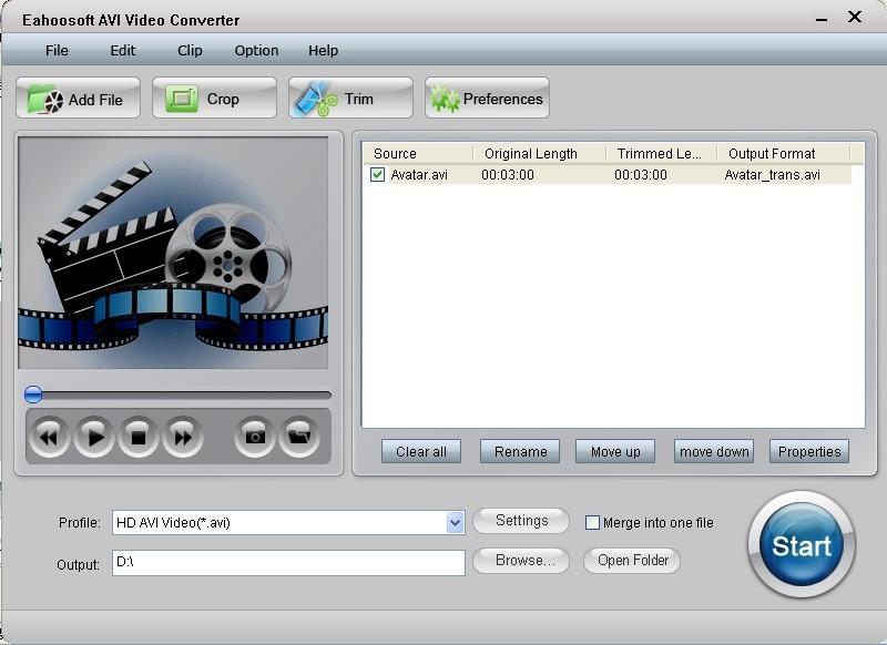Eahoosoft AVI Video Converter