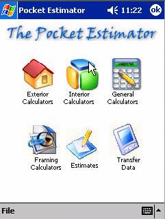 Handy Estimator for Pocket PC's