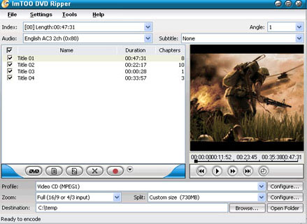 ImTOO DVD Ripper Build 2502