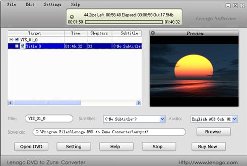 Lenogo DVD to Zune Converter