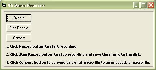 Macro Recorder ActiveX Control