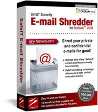 SafeIT E-mail Shredder for Outlook 2003
