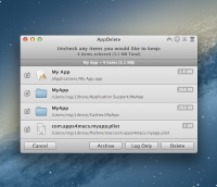 AppDelete 4.1.3 screenshot. Click to enlarge!