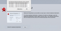 Bookmark Deduplicator 1.2 screenshot. Click to enlarge!