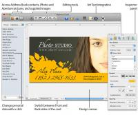Business Card Composer 5.1.7 screenshot. Click to enlarge!