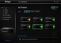 Drobo Dashboard 2.5.2 Build 64171 screenshot. Click to enlarge!