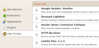 Greasemonkey 2.2 screenshot. Click to enlarge!