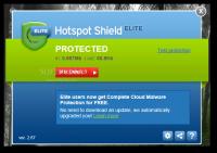 Hotspot Shield Elite 3.19 screenshot. Click to enlarge!