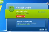 Hotspot Shield 3.19 screenshot. Click to enlarge!