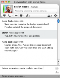Lync for Mac 14.0.7 screenshot. Click to enlarge!