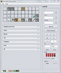 Minecraft Inventory Editor 1.0.2 screenshot. Click to enlarge!