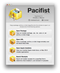 Pacifist 3.2.11 screenshot. Click to enlarge!