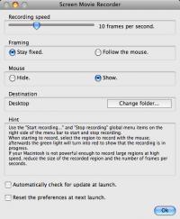 Screen Movie Recorder 5.2 screenshot. Click to enlarge!