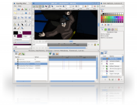 Synfig Studio 0.64.1 screenshot. Click to enlarge!
