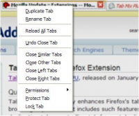 Tab Mix Plus 0.4.0.5 screenshot. Click to enlarge!