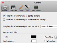 Web Developer 1.2.7 screenshot. Click to enlarge!