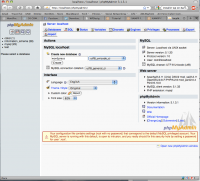 phpMyAdmin 4.2.8.0 screenshot. Click to enlarge!