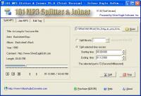101 MP3 Splitter & Joiner 3.9.5 screenshot. Click to enlarge!