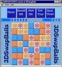 3DSwapBalls 1.82 screenshot. Click to enlarge!