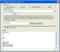 AT Caller ID ActiveX (OCX) 1.0 screenshot. Click to enlarge!