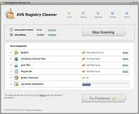 AVS Registry Cleaner 3.0.5.275 screenshot. Click to enlarge!
