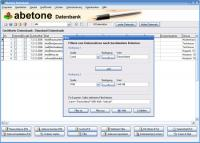 Abetone-Datenbank 8.1.5 screenshot. Click to enlarge!
