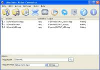 Absolute Video Converter 4.2.1 screenshot. Click to enlarge!