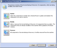 Acronis Backup & Recovery Advanced Server 11.7.44182 screenshot. Click to enlarge!