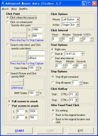 Advanced Mouse Auto Clicker 4.1.8 screenshot. Click to enlarge!