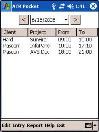 Advanced Time Reports Pocket 8.0.32 screenshot. Click to enlarge!