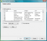 Advanced XLS Converter 5.35 screenshot. Click to enlarge!