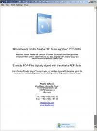 Aloaha PDF Signator 5.0.285 screenshot. Click to enlarge!