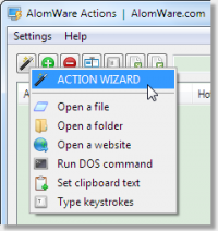 AlomWare Actions 1.47 screenshot. Click to enlarge!