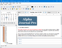 Alpha Journal Pro 6.0.0.0 screenshot. Click to enlarge!