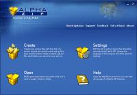 Alpha ZIP 1.3 screenshot. Click to enlarge!
