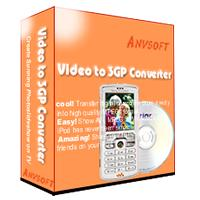 Anvsoft Video to 3GP Converter for to mp4 5.0 screenshot. Click to enlarge!