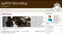 ApPHP MicroBlog Personal PHP Web Blog 2.3.1 screenshot. Click to enlarge!