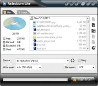 Astroburn Lite 2.0.0.0204 screenshot. Click to enlarge!