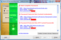 Atomic IE Password Recovery 2.00 screenshot. Click to enlarge!