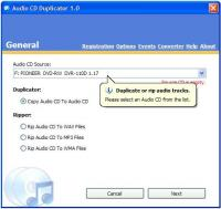 Audio CD Duplicator 2.0 screenshot. Click to enlarge!