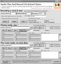 Audio Play And Record OCX 2.13 screenshot. Click to enlarge!