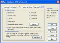Auto ShutDown XP Professional with Auto Login 2003 screenshot. Click to enlarge!