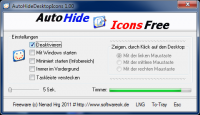 AutoHideDesktopIcons 2.85 screenshot. Click to enlarge!
