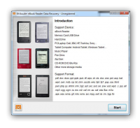 BYclouder eBook Reader Data Recovery 6.8.0.0 screenshot. Click to enlarge!