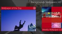 Backgrounds Wallpapers HD for Windows 8 1.2.6.0 screenshot. Click to enlarge!