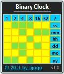 Binary Clock Free 2.5 screenshot. Click to enlarge!